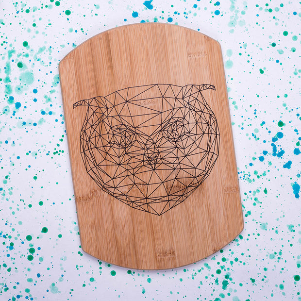 Geometric Owl Decorative Board - schmoo.shop