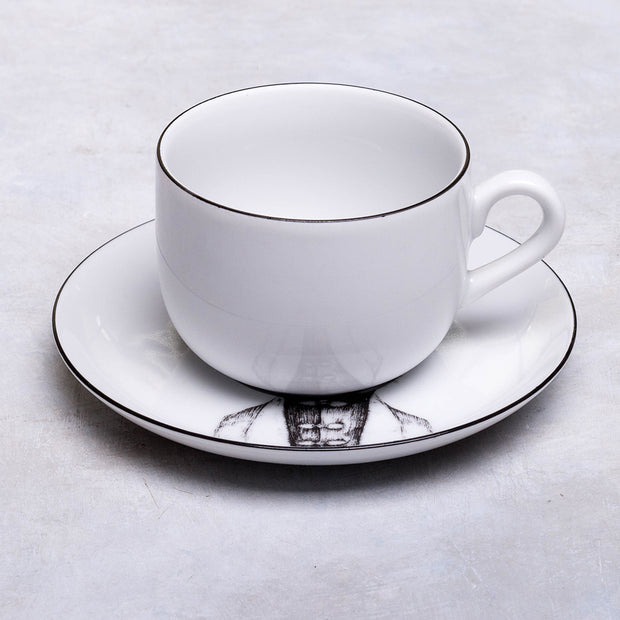 Persian Cat Cup & Saucer - schmoo.shop