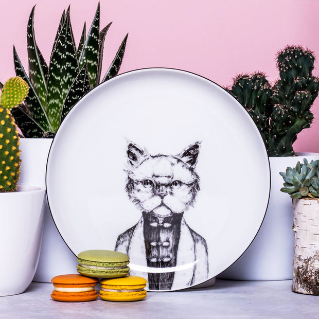 Persian Cat Dessert Plate - schmoo.shop