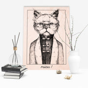 Persian Cat Wooden Poster - schmoo.shop