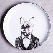 Handsome Frenchie Dessert Plate - schmoo.shop