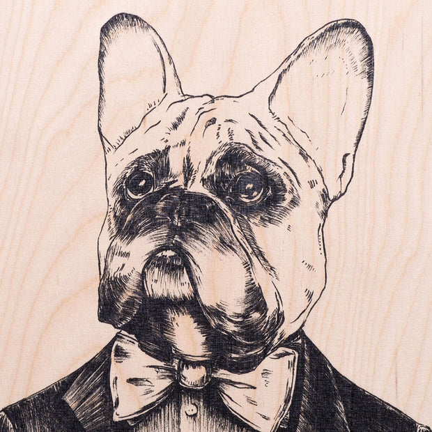 Handsome Dog Wooden Poster - schmoo.shop