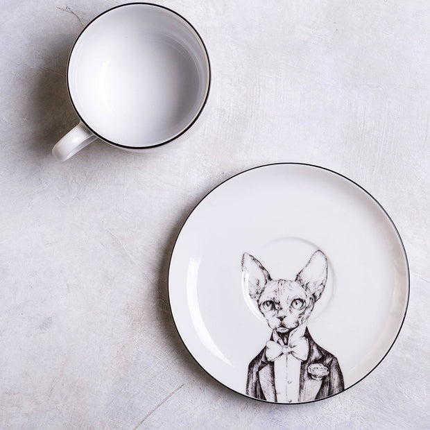 Sphinx Cat Cup & Saucer - schmoo.shop