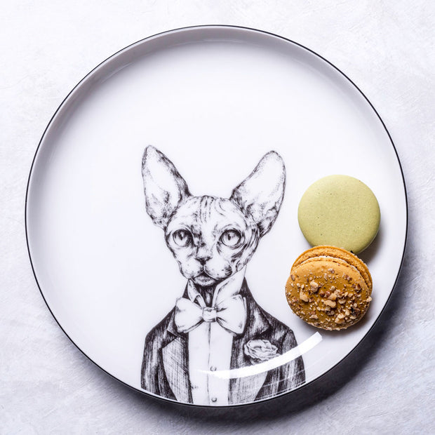 Sphinx Cat Dessert Plate - schmoo.shop