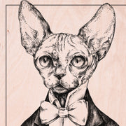 Sphynx Cat Wooden Poster - schmoo.shop