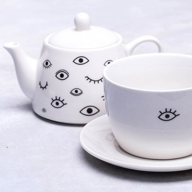 """All Eyes on You"" Teapot Set - schmoo.shop"