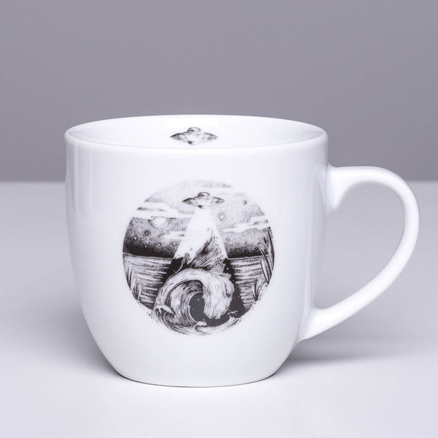 UFO Flying over the Water Mug - schmoo.shop