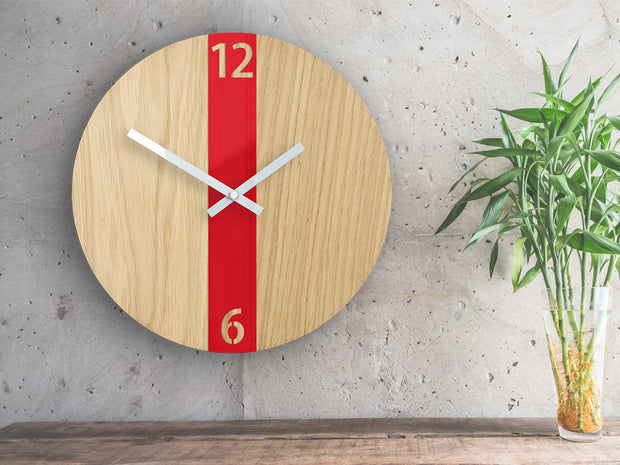 Red Stripe Clock - schmoo.shop
