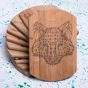 Geometric Wolf Decorative Board - schmoo.shop