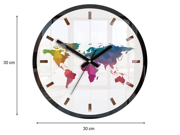 'Colourful Map' Wall Clock - schmoo.shop
