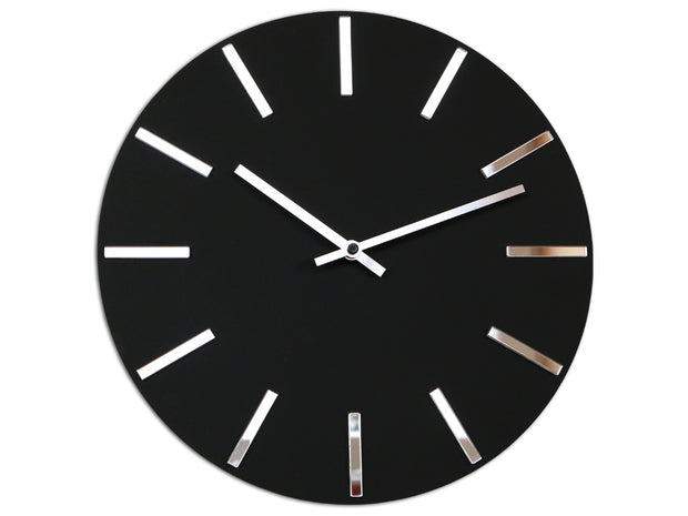 Silver & Black Wall Clock - schmoo.shop
