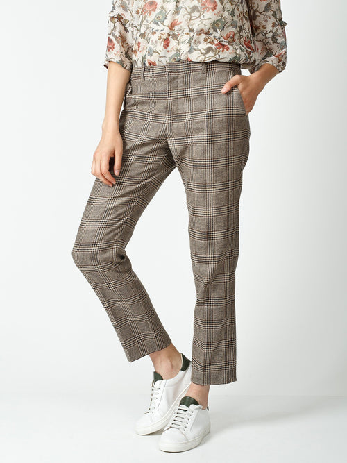 Indi & Cold | Darted Harris Tweed Trousers