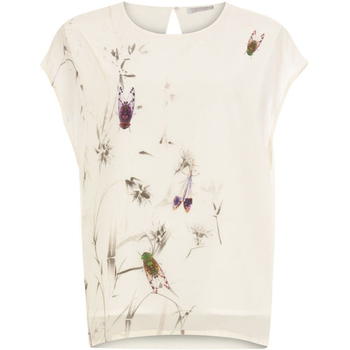 Coster | Top w. Autumn Fly print