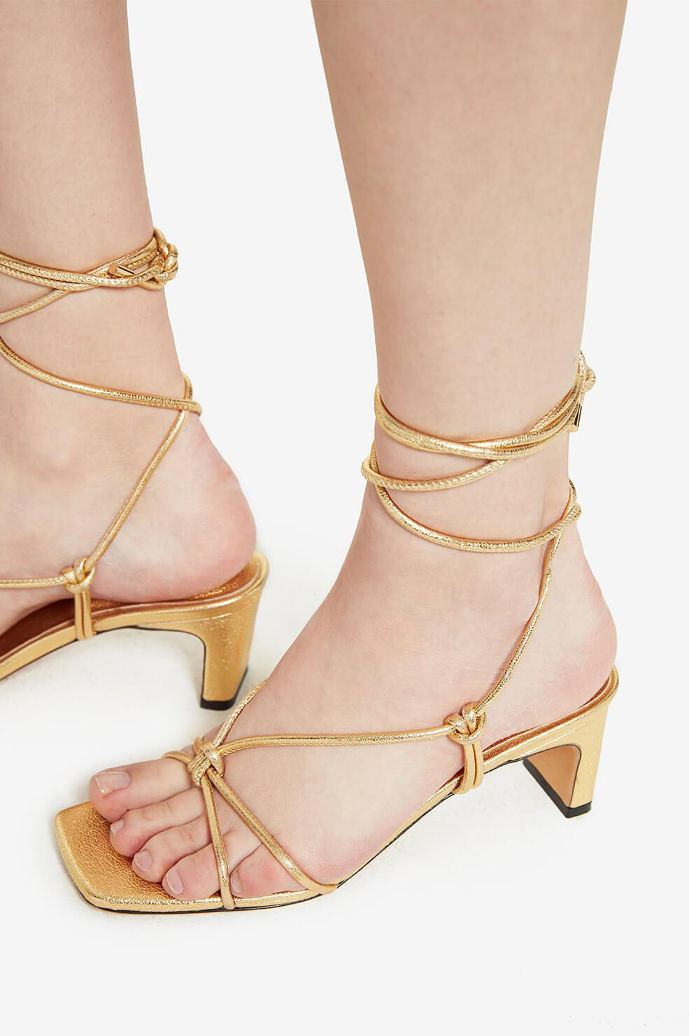 Anine Bing | Graham Sandals - Gold