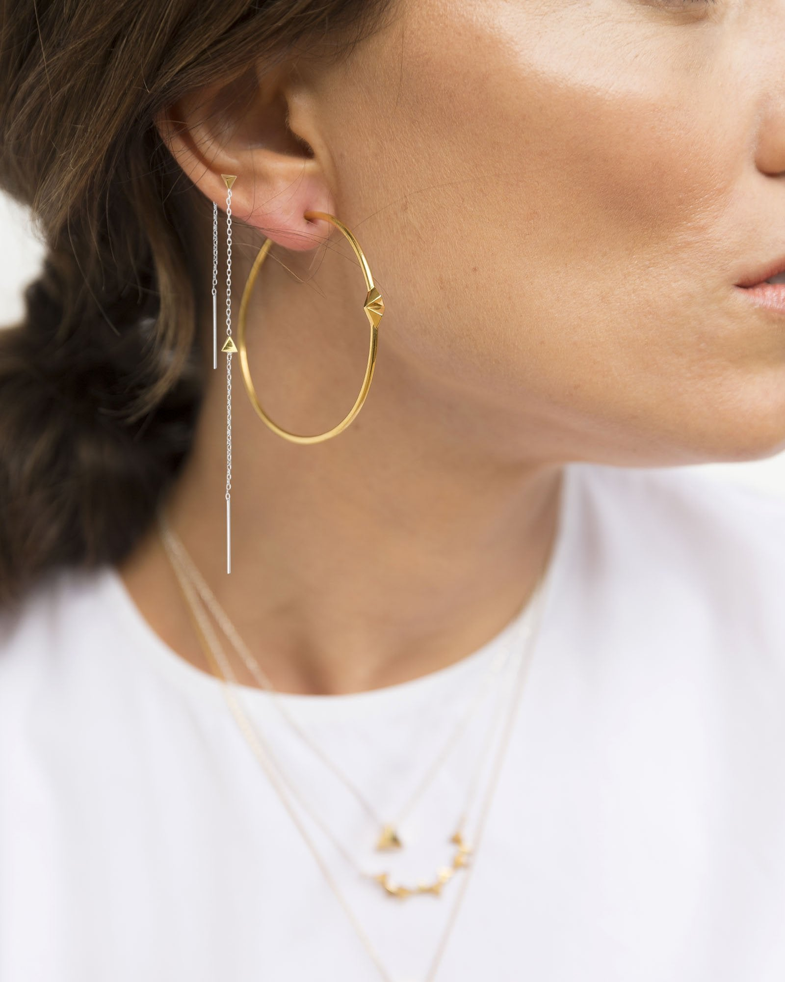 CA Jewellery | Pyramid Hoop Earrings