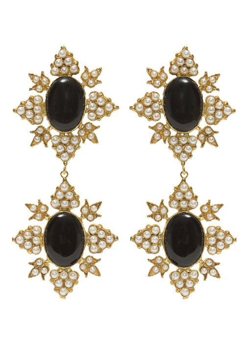 Christie Nicolaides | Cleon Earrings - Black/Gold
