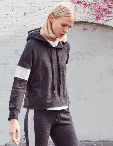Sundry | Cropped Colorblock Hoodie