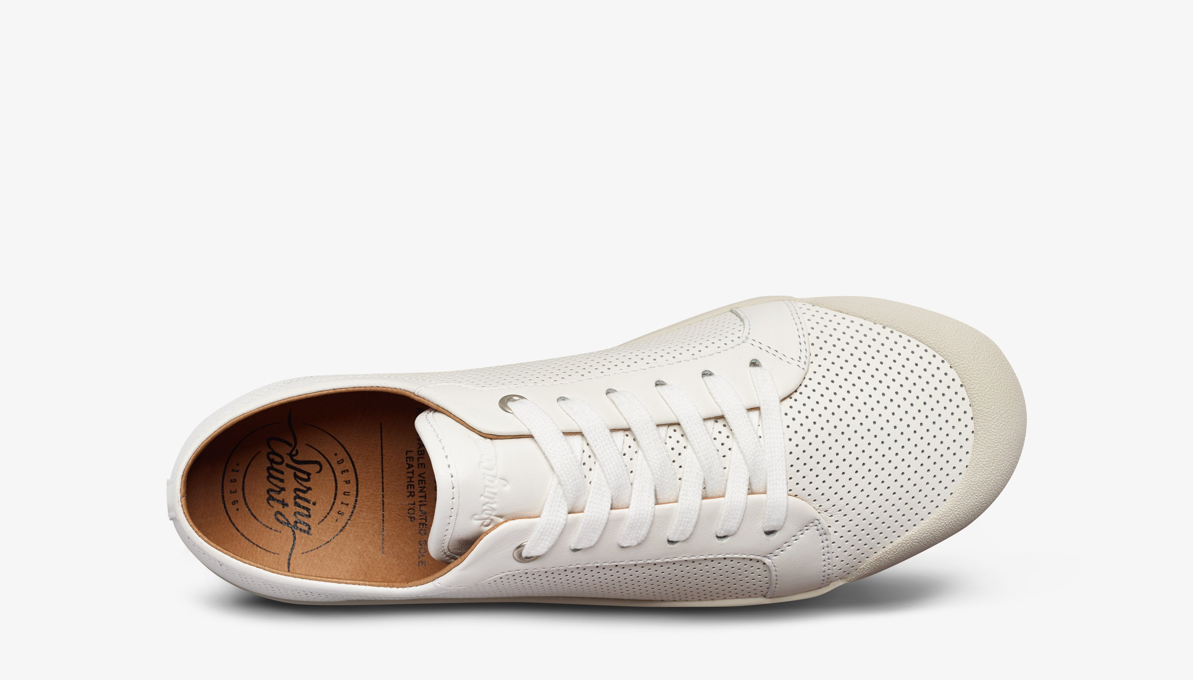 Spring Court | G2 Punch Nappa Low - White