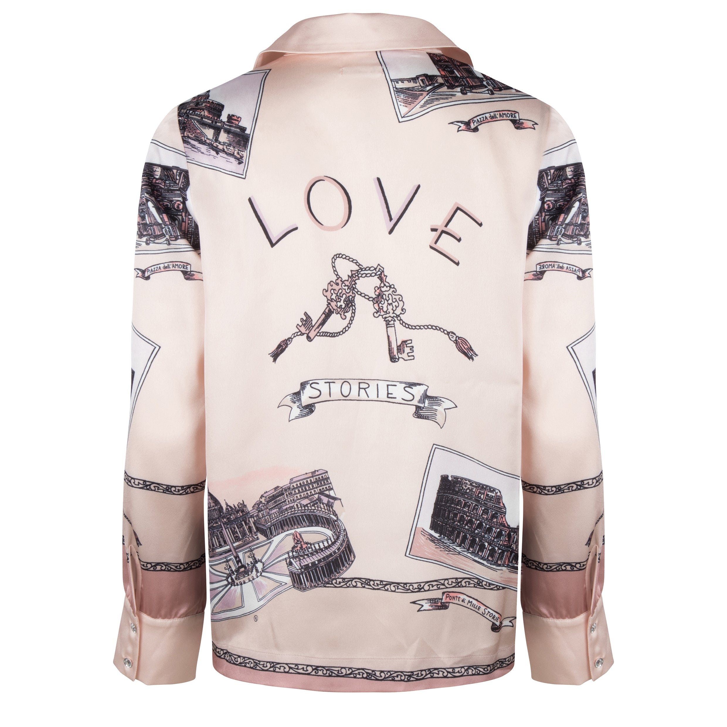 Love Stories | Lana Pyjama Shirt - Roma Scenes