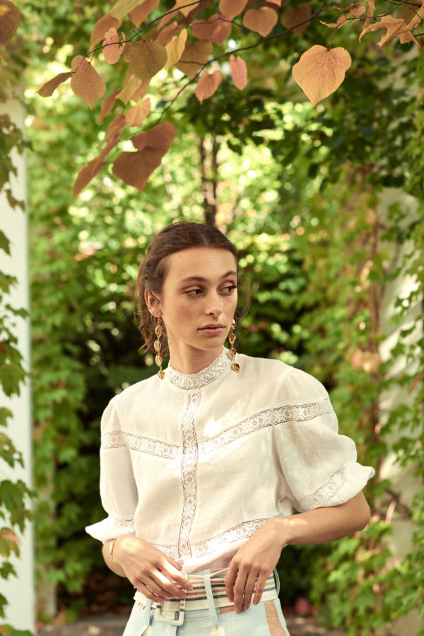 Le Stripe | Colonial Linen Top