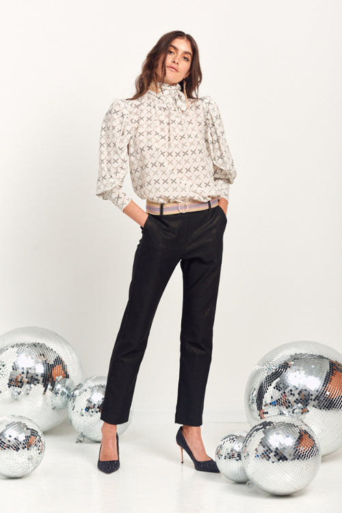 Le Stripe | Studio 54 Shirt - Cream Print