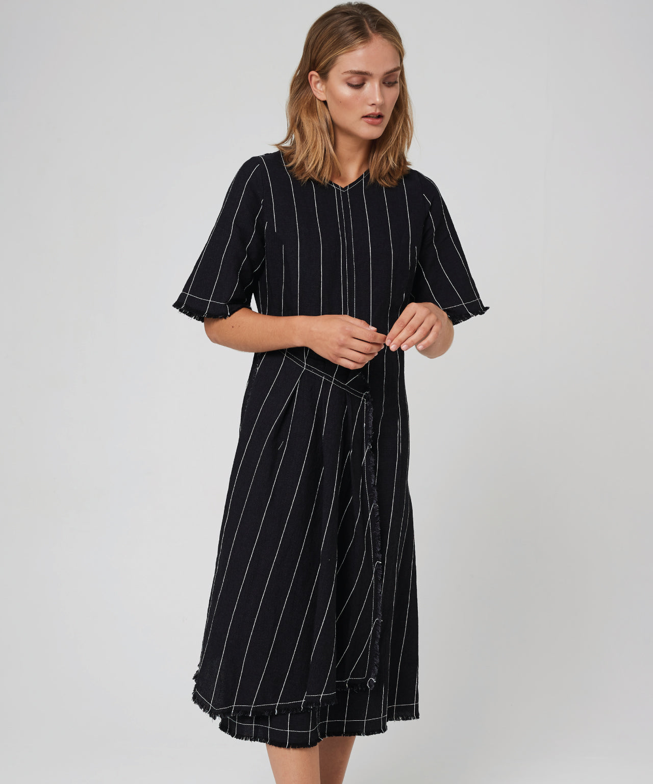 Morrison | Kimora Dress - Black Stripe