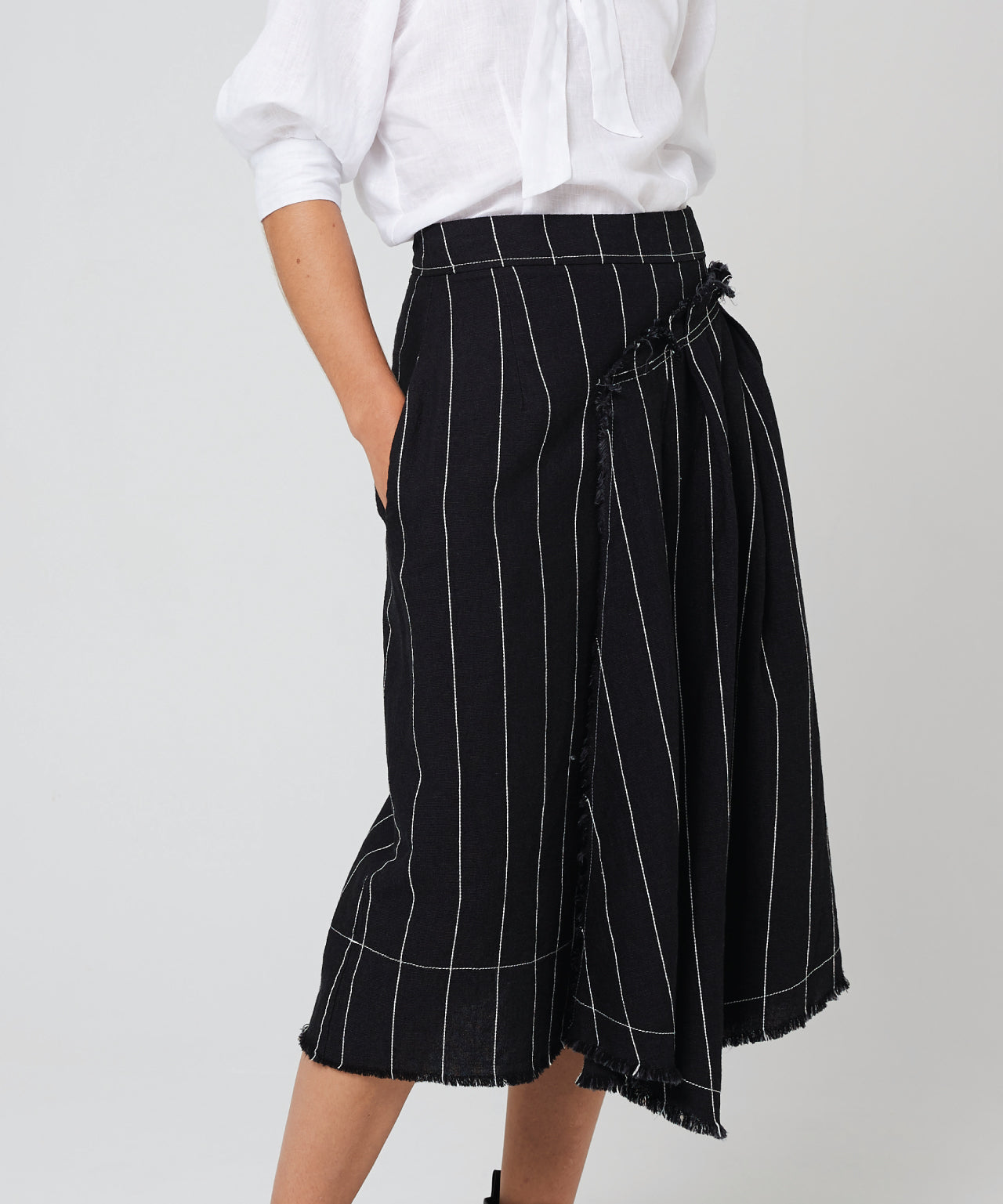 Morrison | Kimora Skirt - Black Stripe