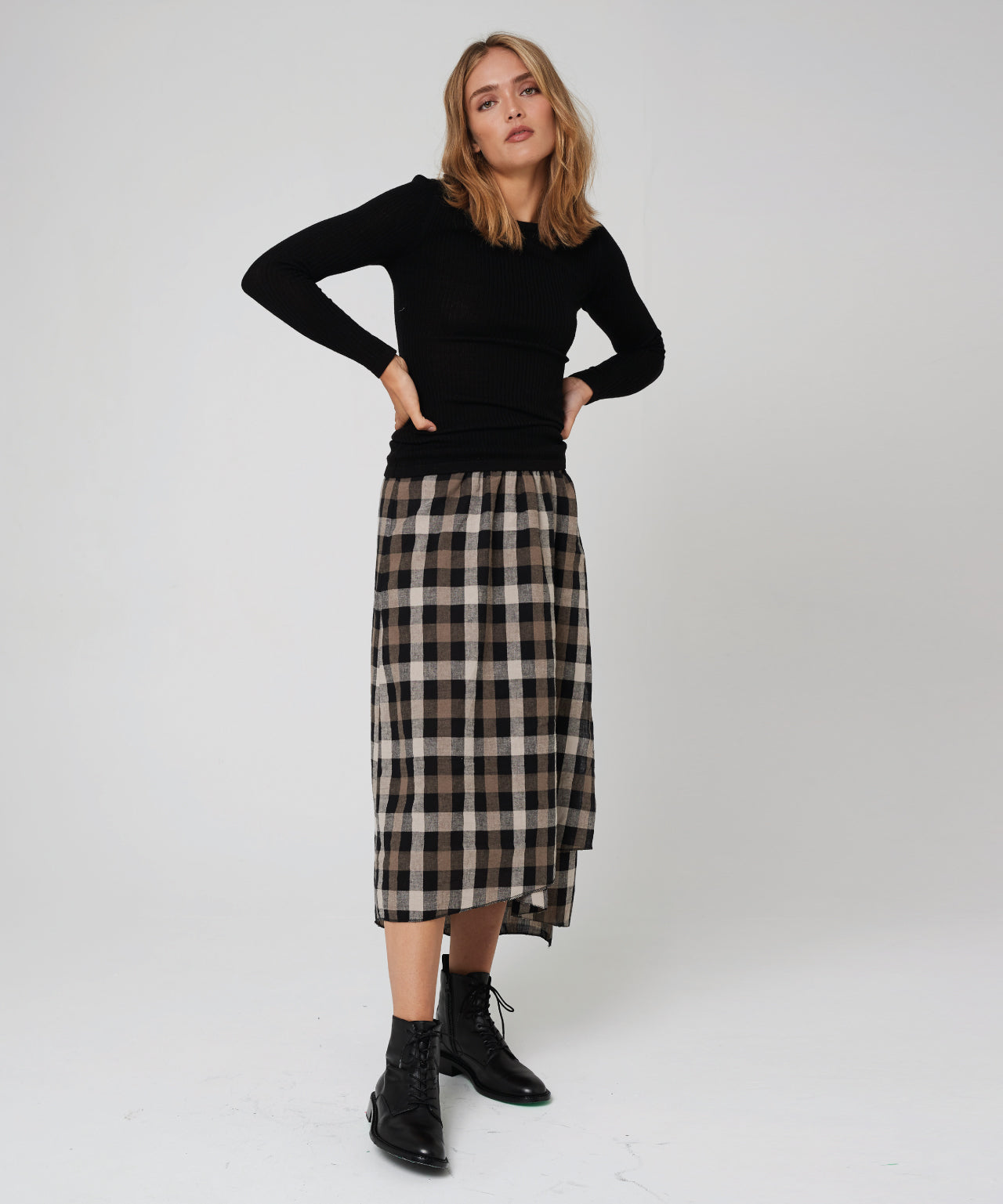 Morrison | Miriam Skirt - Check
