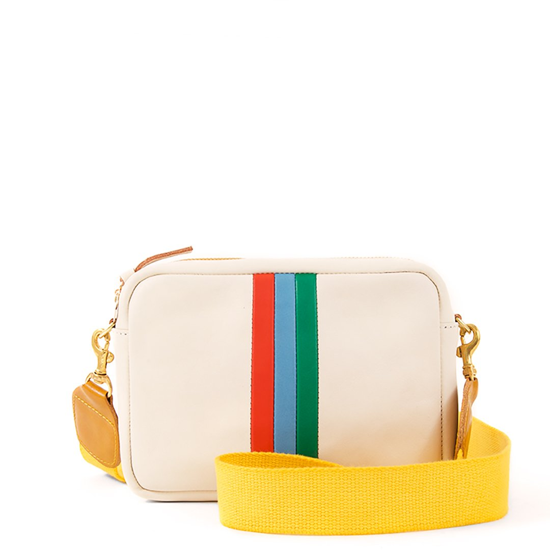 Clare V | White with Stripes Midi Sac