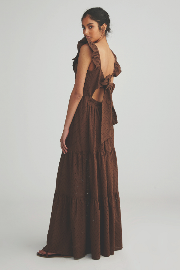 Morrison | Coraline Maxi Dress - Chocolate