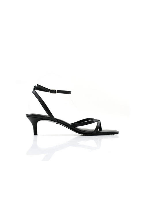 La Tribe | Thin Strap Heel - Black
