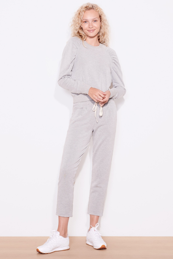 Sundry | Pleated Trouser - Heather Grey