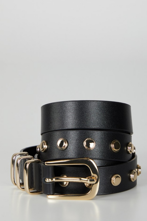 Anine Bing | Sienna Belt - Black/Gold