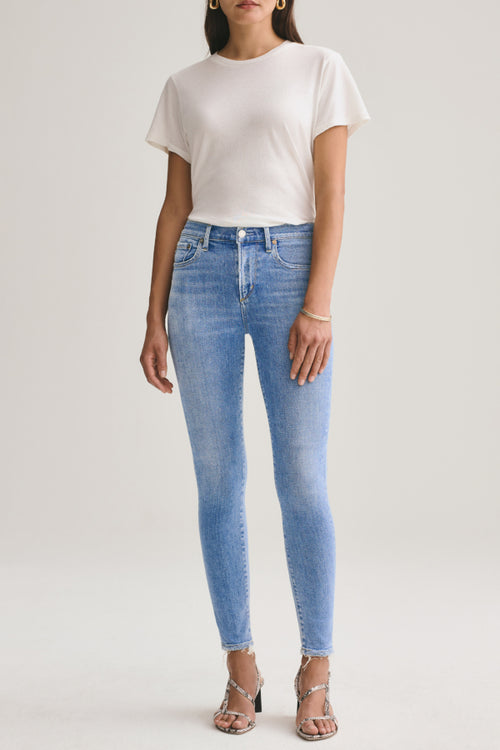 Agolde | Sophie Mid Rise Skinny Ankle - Saltwater