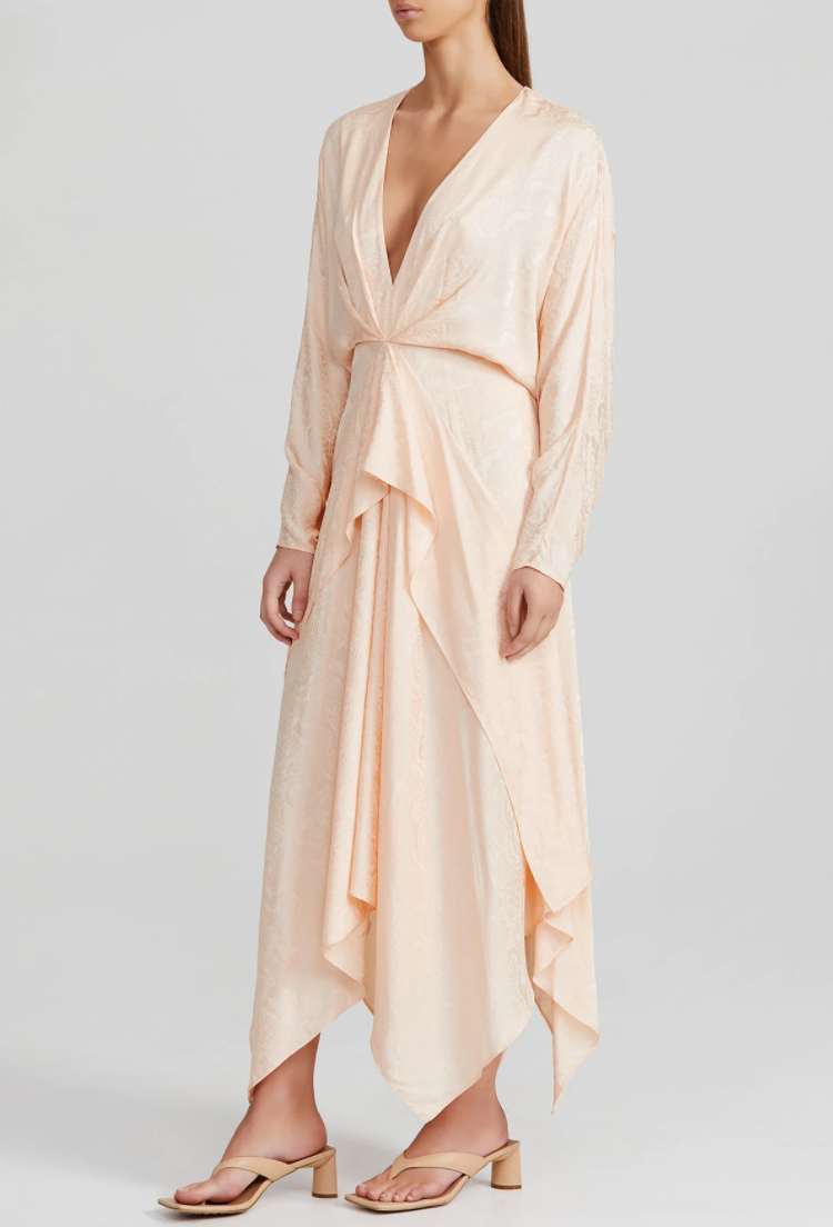 Acler | Stanley Dress - Peach Sorbet