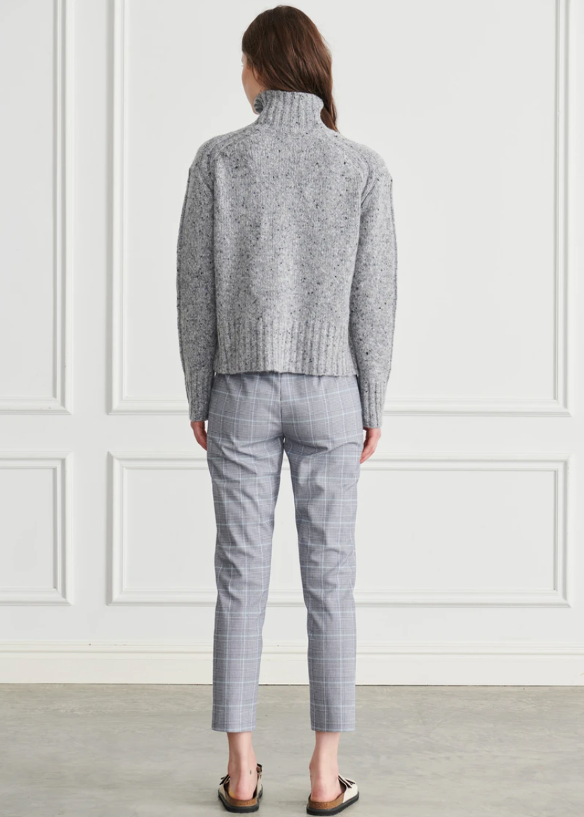 APT | Tally Chunky Turtleneck - Denim
