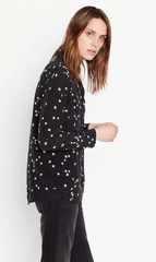 Equipment | Slim Signature Silk Star Shirt - Black