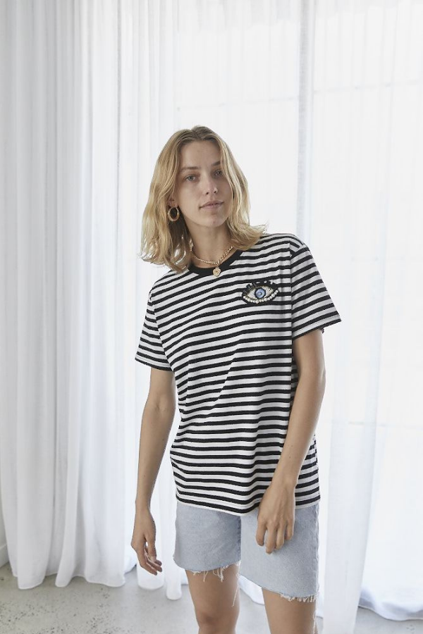 Elvie & Leo | The Winks Stripe T-Shirt - Black/White