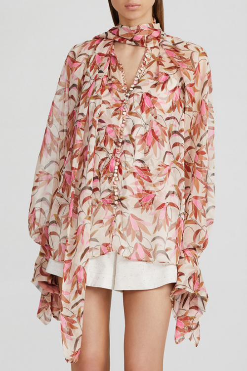 Acler | Cathedral Blouse - Pink Wandering Floral