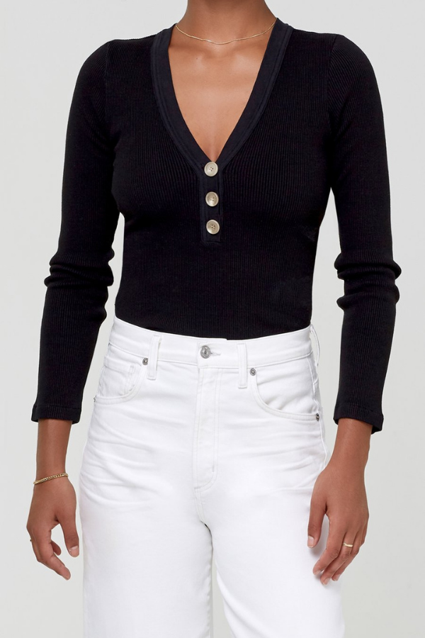 Citizens of Humanity | Scarlett Rib Henley - Black