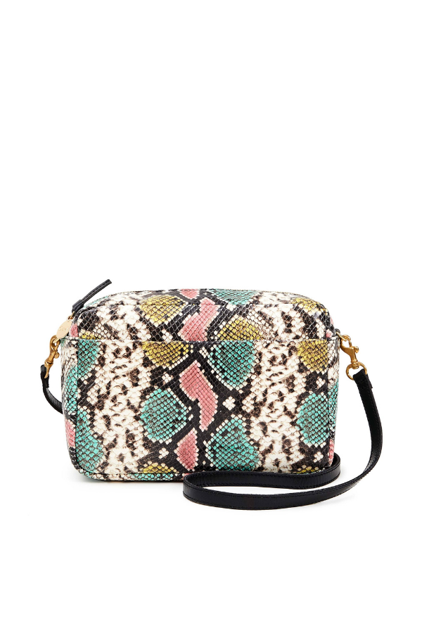 Clare V. | Marisol With Front Pocket - Pastel Painted Snake
