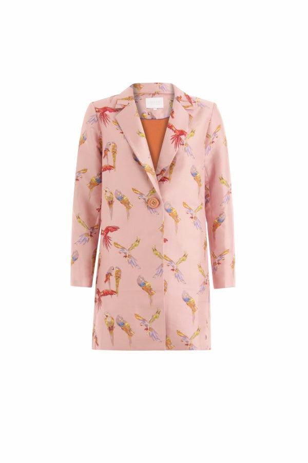 Coster | Jacket with Bird Emb - Pink Tan
