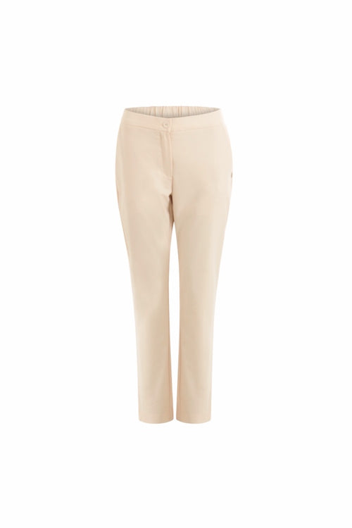Coster | Pants with Buttons and Back Pocket - Cream