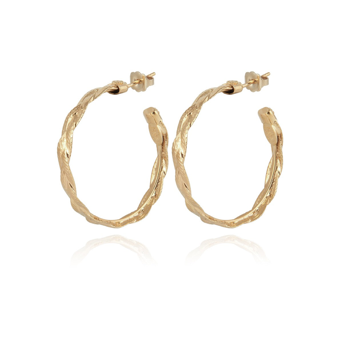 Gas Bijoux | Creole Tresse Hoop Earrings