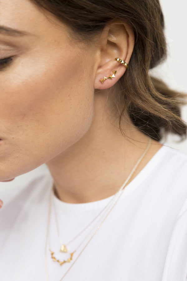 CA Jewellery | Pyramid Climber Earrings