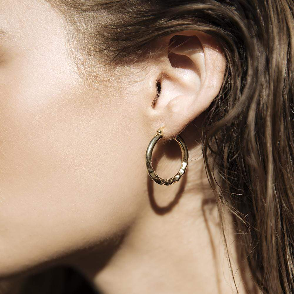 F+H Jewellery | Easy Ride Hammered Hoops - Small