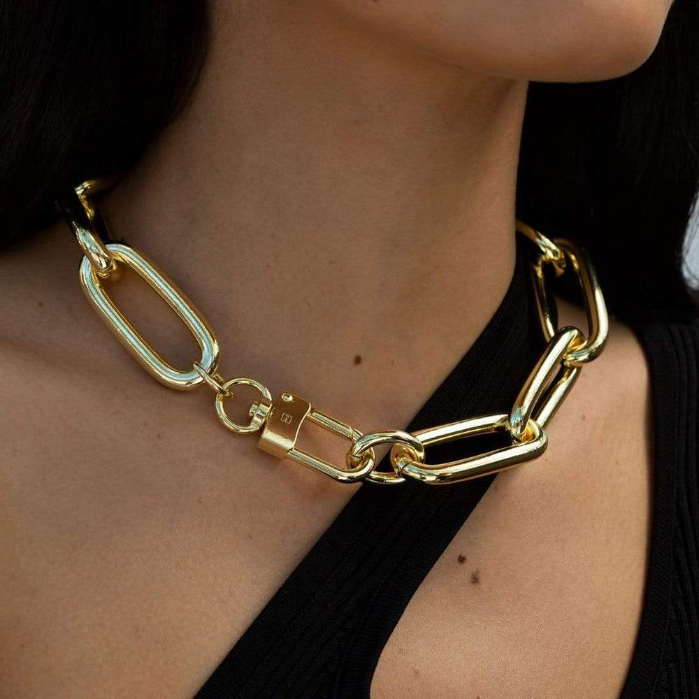 F+H Jewellery | Heavy Metal XL Necklace - Brass + 18K Gold