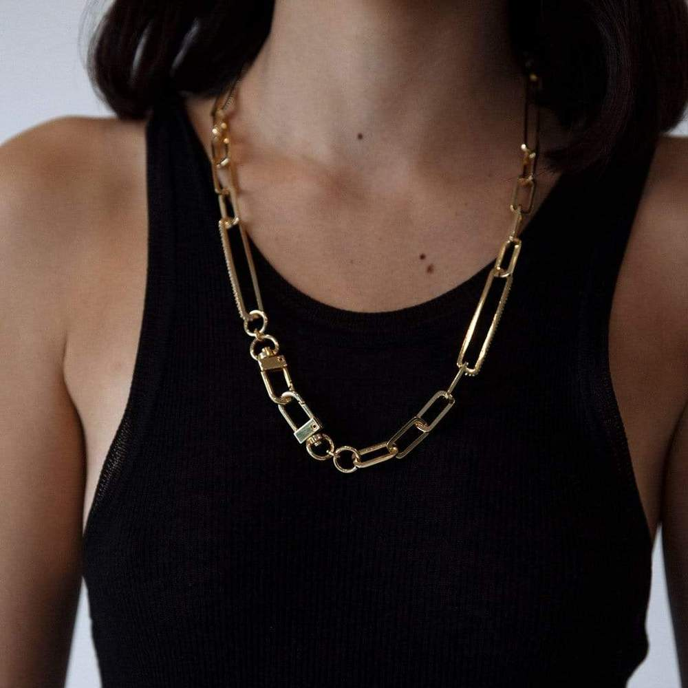F+H | Utility Chain Necklace - Topaz