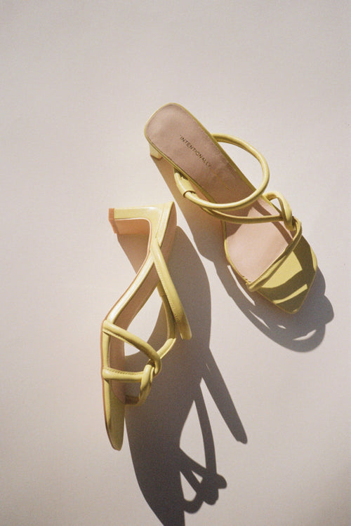 Intentionally Blank | Willow Mule - Yellow