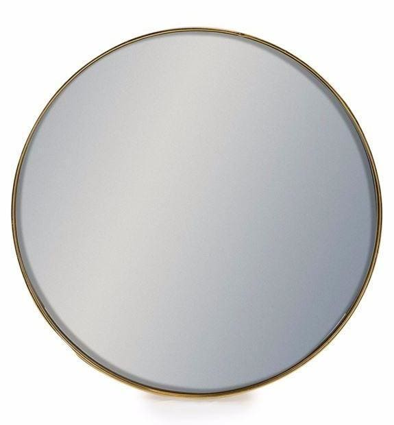 Aldrich Medium Gold Circle Wall Mirror - Mirror